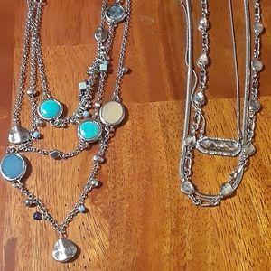Accessories - 2 pretty costume jeweley neckaces .